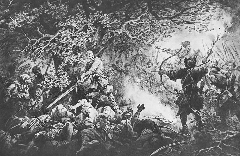 Death of Longinus Podbipięta