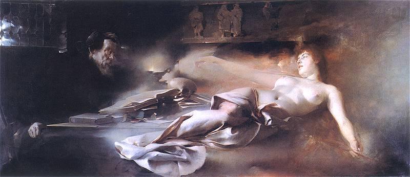 Фауст, произведение изобразительного искусства с эротикой и сексом.